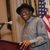 Le Président nigérian Goodluck Jonathan lors du Corporate Council on Africa, à New York City, le 26 septembre 2012