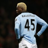 Mario Balotelli lors du match contre Arsenal